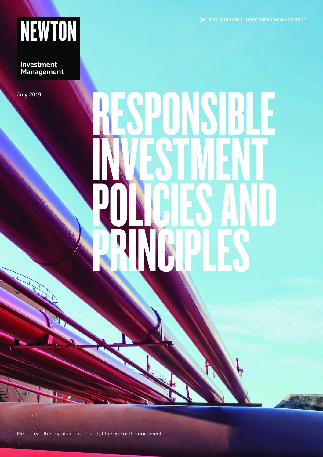 Responsible investment – policies and principles