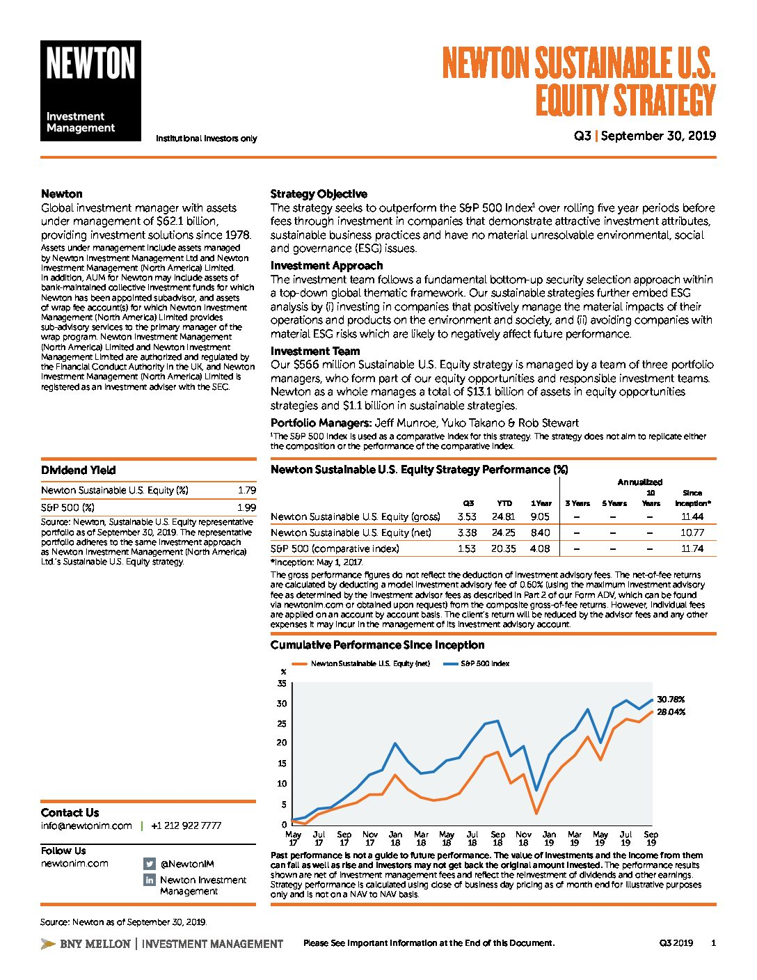 NIMNA Sustainable U.S. Equity Factsheet