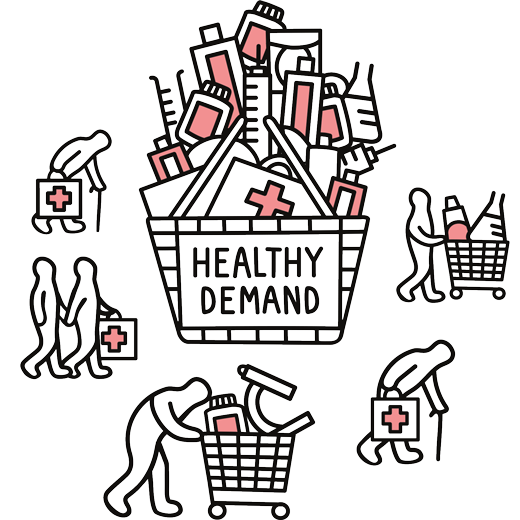 Healthy demand