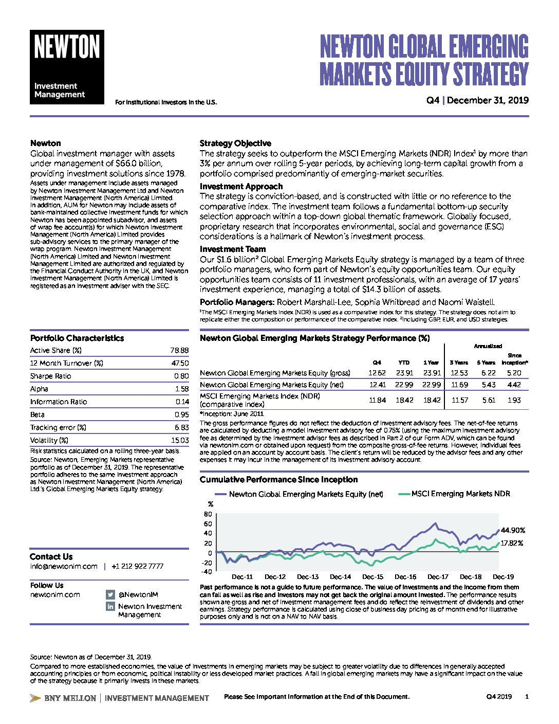NIMNA Global Emerging Markets Equity strategy factsheet