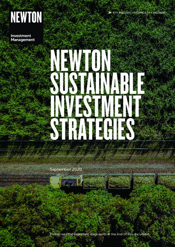 Sustainable investment strategies brochure