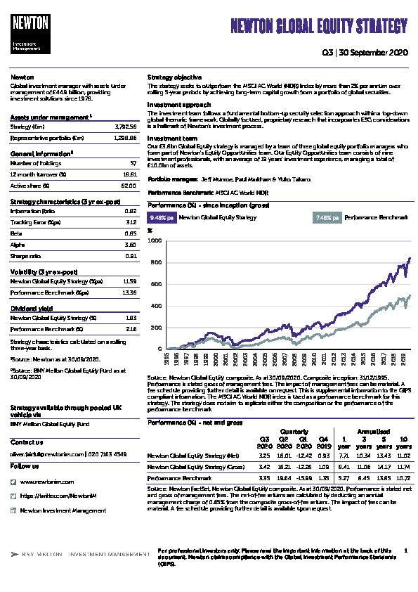 UK Inst Global equity strategy factsheet