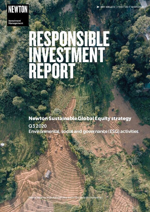RI report Sustainable global equity