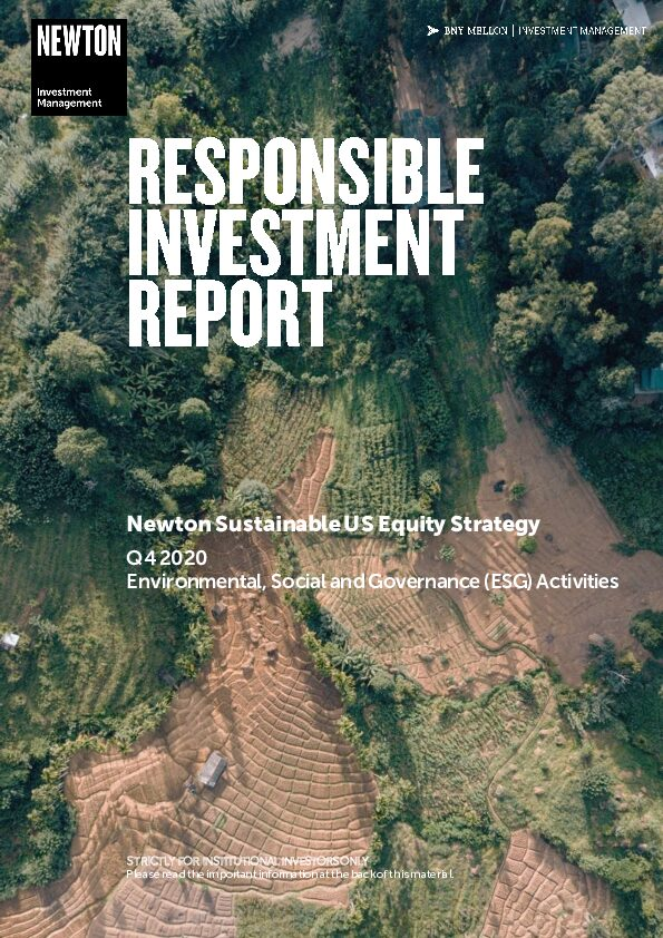 US RI report Sustainable US Equity